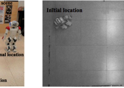 Visual Servo Walking Control for Humanoids with Finite-time Convergence and Smooth Robot Velocities