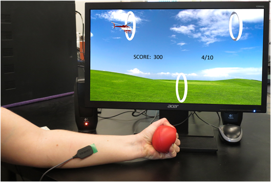 Biofeedback exergames to guide and evaluate isometric exercises